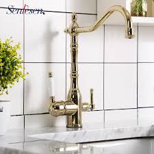 best gold brass <b>kitchen faucet</b> pull list and get <b>free</b> shipping - a706