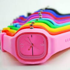Men Women Square Dial Jelly Silicone Fashion Sport Quartz ... - Vova