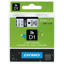 <b>DYMO S0720680 D1</b> Tape 9mm x 7m Black on White. | Rapid Online