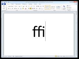 how to enable opentype ligatures in word