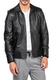 Кожаная <b>куртка JIMMY SANDERS</b> арт 18F_CTM22000_BLACK ...