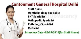 nurses job vacancy delhi cantonment general hospital staff nurse delhi cantonment general hospital staff nurse jobs vacancy