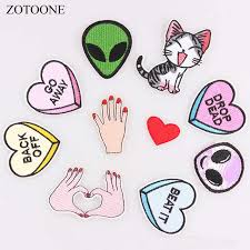 <b>ZOTOONE</b> 1PC Finger Parches Embroidered Iron On Patches For ...