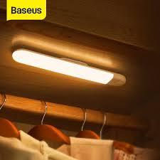 <b>Baseus</b> Magnet Lamp Wardrobe Light LED <b>PIR Motion Sensor</b> Light ...