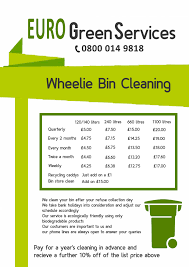 wheelie bin cleaning service surrey berkshire london our price list here