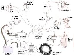 basic harley wiring diagram harley alternator and kick only wiring diagram motorcycle parts only harley shovelhead wiring diagram