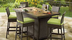 garden furniture patio uamp: patio  fascinating fire pit dining set rectangular stainless steel fire burner black wicker chair green comfy cushion brown marble table top patio outdoor furniture ideas