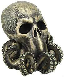 Pacific Giftware <b>Cthulhu Skull</b> Collectible Figurine Antique Bronze ...