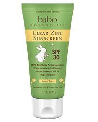 Babo Botanicals Clear Zinc Sunscreen Lotion SPF 30 ... - Amazon.com