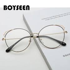 BOYSEEN <b>New</b> fashion cat ears metal <b>flat mirror Male</b> and female ...