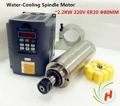 2.2kw <b>Water</b> Cooled <b>CNC Spindle</b> Motor ER20 4 bearing & 2.2kw ...