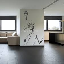 liberty bedroom wall mural: aliexpresscom buy statue of liberty new york america wall art stickers decal home diy decoration wall mural removable bedroom decor wall stickers from