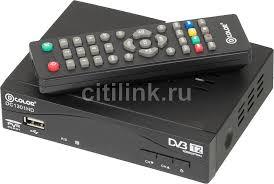 Купить Ресивер <b>DVB</b>-<b>T2 D</b>-<b>COLOR</b> DC1301HD, черный в ...
