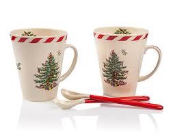 """Купить <b>Набор</b> из 2 кружек с ложками 400мл """"<b>Рождественская</b> ель ..."""