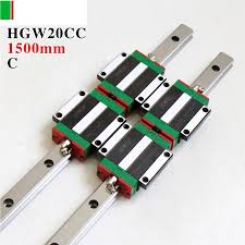 CNC Guide Rails,<b>2pcs HIWIN</b> HGR20 <b>Linear Rail</b> 1500mm 4pcs ...