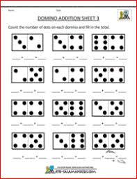 Addition Math Worksheets for Kindergartenprintable kindergarten math worksheets domino addition 3