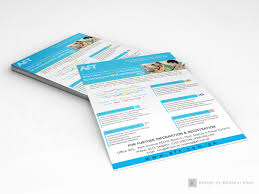 flyer design microsoft courses on behance microsoft technology associate mta training flyer