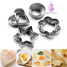 SJW 12PCS/SET Biscuit <b>Mold</b> Cookie Baking <b>Mould Stainless Steel</b> ...