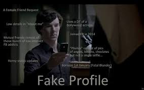 Fake Profile Sherlocked | Funny Pictures, Quotes, Memes, Jokes via Relatably.com