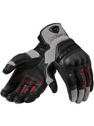 Motorcycle Gloves <b>REV'IT Dirt</b> 3 black/grey - size L 8700001264129 ...