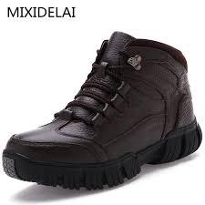 <b>MIXIDELAI</b> Super Warm Winter Men Boots <b>Genuine Leather</b> Boots ...