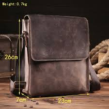 <b>NEWEEKEND</b> Retro <b>Genuine Leather</b> Cowhide Crazy Horse ...