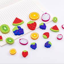 <b>4pcs</b>/<b>lot Cute Creative</b> fruit shape eraser Mini Eraser funny student ...