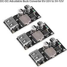 MakerHawk 3pcs <b>DC</b>-<b>DC</b> Adjustable Buck Converter <b>6V</b>-32V(<b>12 24V</b>)