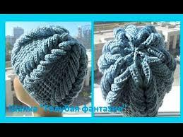 "<b>Шапка</b>"" Голубая фантазия"",how to crochet a hat ( Ш № 87) - YouTube"