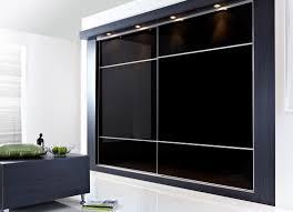 Sliding Door Bedroom Furniture Furniture Large Black Glass Bedroom Cabinet With Sliding Door