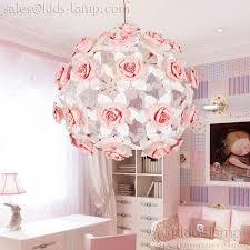 interesting pink flower ball chandelier for girls room kids lampcom chandelier girls room