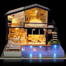 <b>New</b> Girl <b>DIY</b> 3D Wooden Mini <b>Dollhouse</b> 2019 Time Apartment Doll ...