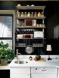 Wall For Kitchens Entertaining Small Kitchens Ideas In Modern Living Space Black