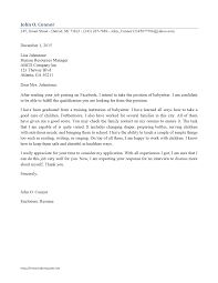 babysitter cover letter wordtemplates net cover letter template baby sitter