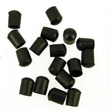 <b>10pcs</b> Soft <b>PVC Round</b> Caps Screw Thread Protector Black ...