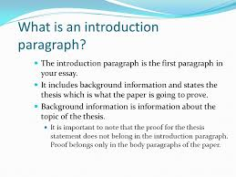 pasco hernando community college tutorial series academic essays  the introduction paragraph is the first paragraph in your essay