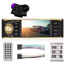 4019b 1 din car mp5 player mp3 multimedia stereo audio video fm radio transmitter bluetooth rear view camera 4 1inch