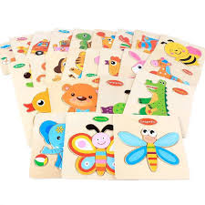 1pcs <b>Baby Toy Wooden Cartoon</b> Animals Puzzle Kayu 3D | Shopee ...
