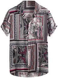 Buy Boarka <b>Summer Mens</b> Hawaiian <b>Shirt</b> Regular Fit <b>Turn Down</b> ...