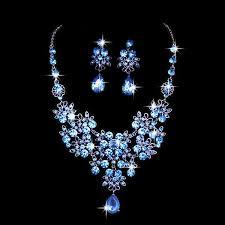 <b>Crystal</b> Bridal Wedding Jewelry Set <b>Fashion</b> Rhinestone <b>Water</b> Drop ...