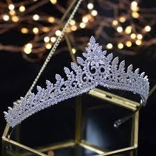 <b>Designer Wedding Tiaras 2018</b> Crystals Zircon Baroque Bridal ...