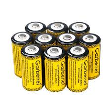 10PCS CR123A 1800mAh 3.7V <b>16340</b> Rechargeable Lithium ...
