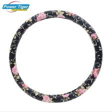 Chinese Style Peony Flower Lady <b>Car Steering Wheel Cover</b> Four ...