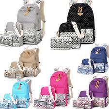 <b>3pcs</b>/<b>Set</b> Backpack Women Canvas Travel Bookbags <b>School Bags</b> ...