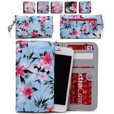 Womens Flower Pattern Wallet Case Cover for Smart Cell Phones ...