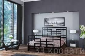 Купить двуспальную металлическую <b>кровать Титан</b> Кубо с ящиками
