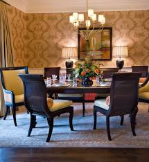 flower arrangements dining room table: gorgeous lumbar pillows in dining room traditional with dining room art decor next to cane furniture alongside