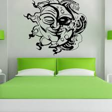 sun wall decal trendy designs: vinyl wall decal sticker sun and moon design os aa