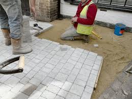 patio slab sets: laying granite sets in the centre of taunton