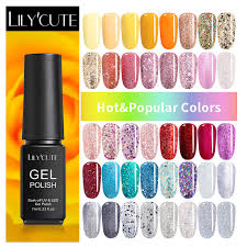 <b>LILYCUTE</b> Canary <b>Yellow Orange</b> UV Gel Nail Polish Color Coat ...